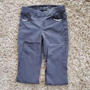 Gloria Vanderbilt Avery Slim Leg Charcoal Pants